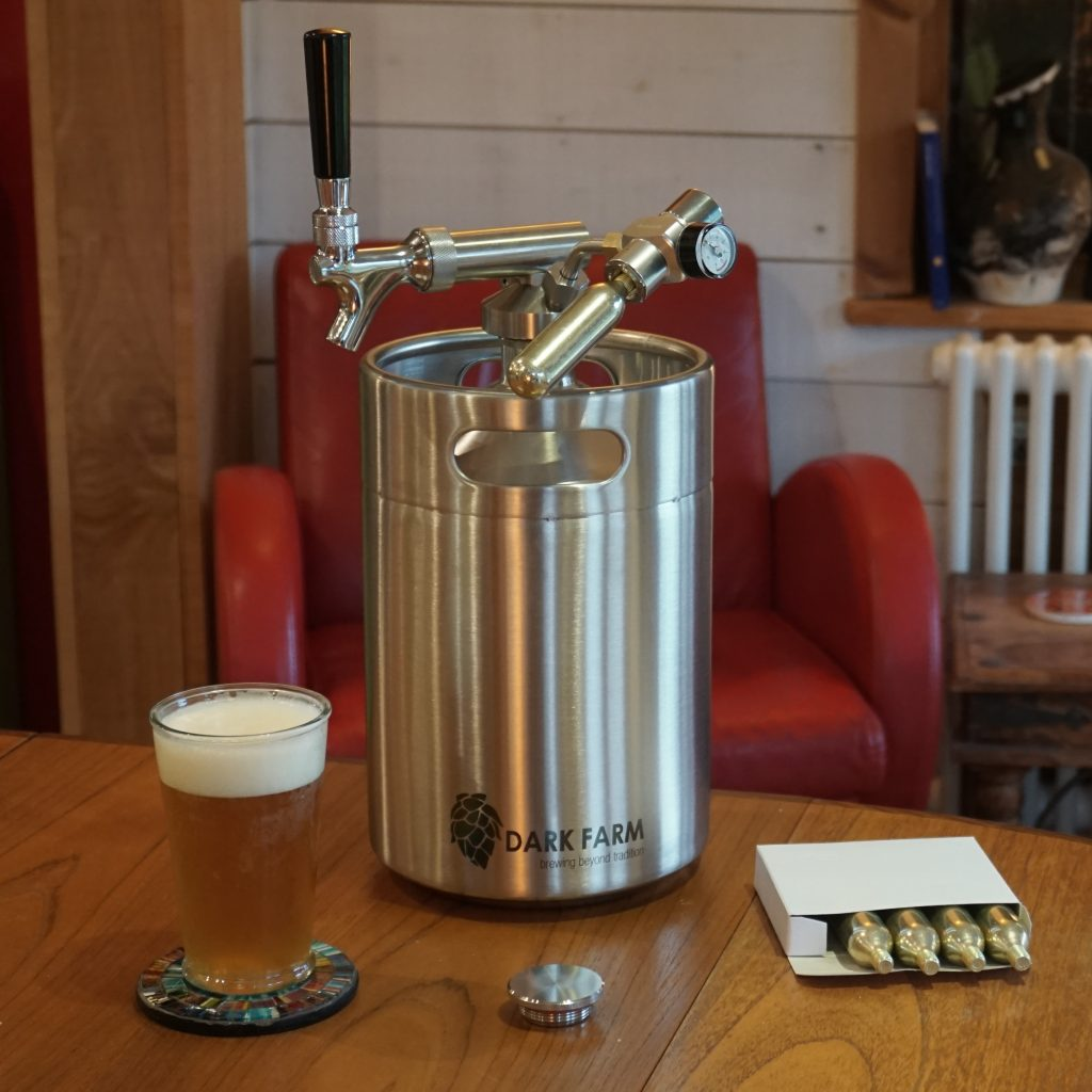 5L mini keg growler with draught system