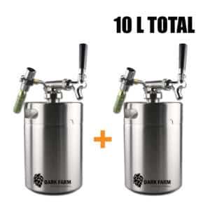 2 x 5L mini kegs