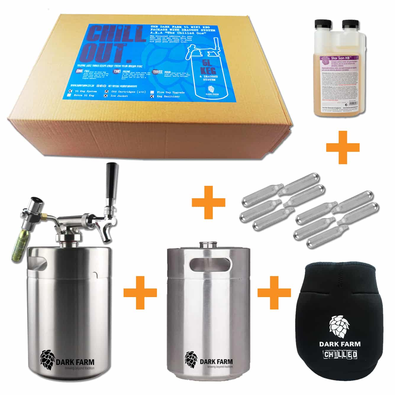 Home Bar In A Box 2 X 5l Mini Keg With Draught System Ice Jacket