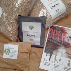 All grain pale ale homebrew kit