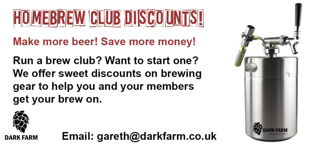 discounts on mini kegs for homebrew clubs