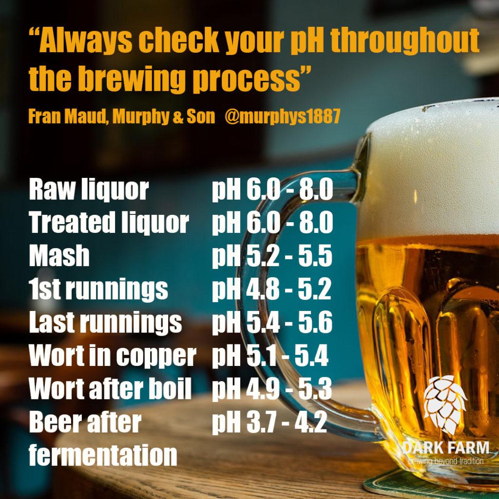 pH range in homebrewing process